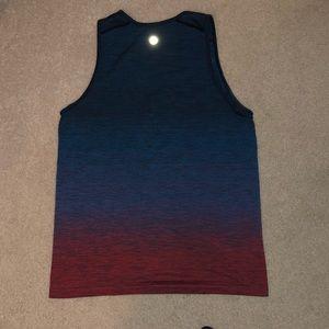 Lululemon Men's Tank Top Short Sleeve Shirt Ombre